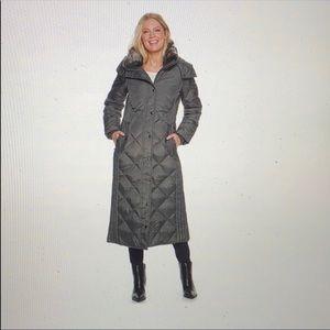 London Fog Diamond Quilt Down Coat